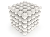 Orbs block. Assembling concept. On white. Stock Photo