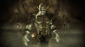 Orc魔术师 向量例证