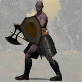 Orc #02. Orc Fantasy Series - Image with Clipping Path Royalty Free Stock Photography