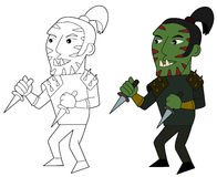 Orc assasin cartoon Stock Photography