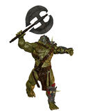 Orc with Battle Axe Royalty Free Stock Images