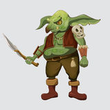 Orc, character, computer games, dagger, Cartoon Stock Images