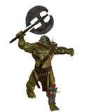 Orc com machado da batalha Imagens de Stock Royalty Free
