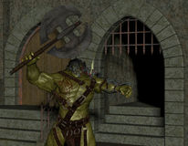 Orc in the Dungeon Stock Photography
