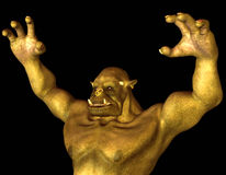Orc fantasy figure in attack pose Stock Photo