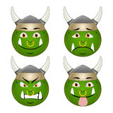 Orc smile set Stock Images
