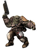 Orc soldier in armour Stock Photos