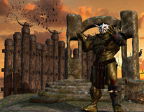 Orc warrior with armor Stock Images