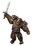Orc warrior Stock Image