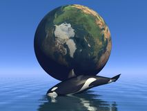 Orca and earth Royalty Free Stock Photography