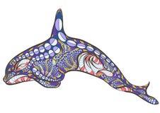 Orca etnica royalty illustrazione gratis