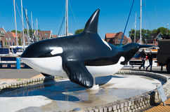 Orca statue Stock Photos
