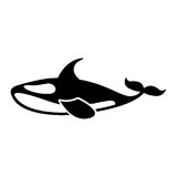 Orca whale isolated icon. Vector illustration design Stock Image
