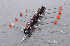 ORCA Women's Crew races in the Head of Charles Regatta Women's Master Eights Stock Images