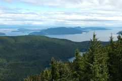 Orcas Island Landscape. Beautiful landscape and seascape view of Orcas Island in Seattle, Washington (USA Royalty Free Stock Photography