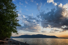 Orcas Island Sunset Royalty Free Stock Image