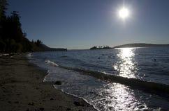Orcas island ymca camp beach morning Royalty Free Stock Photo