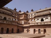 Orcha fort madhya pradesh India. Inside view of orcha fort near jhansi India royalty free stock photo