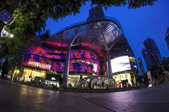 Orchard Ion. Shopping centre in Singapore at night Stock Images