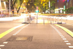 Orchard road at night Stock Image