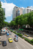 Orchard Road is a popular shopping street in Singapore Royalty Free Stock Photo
