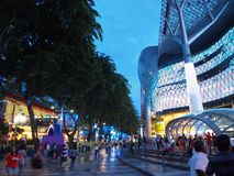Orchard Road Singapore. Orchard Road in Singapore is well known as a shopping paradise. Here is the iconic ION Orchard, a shopping mall, a popular place where Stock Photo