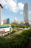Orchard Road, Singapore. This image shows the tree lined streets of Singapore's Orchard Road Stock Image
