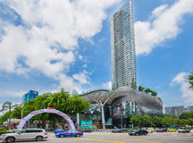Orchard road in Singapore. Singapore city, Singapore - July 18, 2015: Orchard Road is a 2.2 kilometre-long boulevard that is the retail and entertainment hub of Royalty Free Stock Image