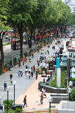 Orchard road Stock Image