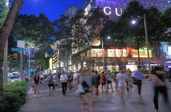 Orchard Road Singapore by night Royalty Free Stock Photos