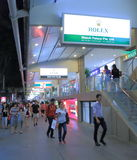 Orchard Road Singapore by night. Orchard Road shopping district in Singapore Stock Photo