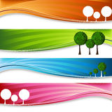 Orchard Tree Banner Set Stock Image