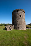 Orchardton Castle, Dumfries and Galloway, Scotland. Is a ruined tower house built by the Cairns family in the mid 15th century with a circular design unique in Royalty Free Stock Image