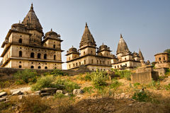 Orchas Palast, Indien. stockfotos