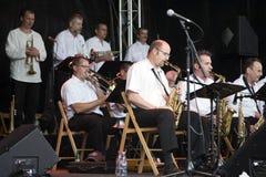 Orchester des Jazz-B3 am Montreux-Jazz-Festival lizenzfreie stockbilder
