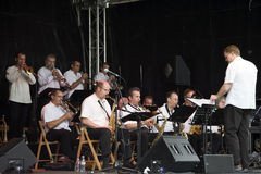 Orchester des Jazz-B3 am Montreux-Jazz-Festival Stockfotos