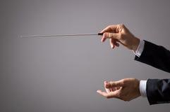 Orchesterleiterhände stockfotografie