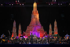Orchesterzeigen im Thailand-Reisen-Ereignis lizenzfreies stockbild