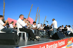 Orchestra. LIMASSOL,CYPRUS-JUNE 7:Unidentified orchestra in Cypriot-Russian festival June 7, 2008 in Limassol,Cyprus Royalty Free Stock Images