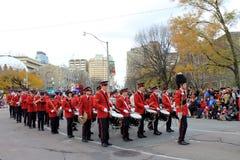 Orchestra alla parata di natale a Toronto Fotografia Stock