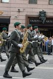 Orchestra of Austria on parade of participants of international festival of military orchestras Stock Images
