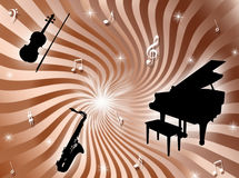 Orchestra background Stock Image