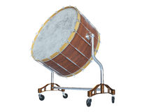 Orchestra Big drum on white 3D rendering. Orchestra Big drum on white background 3D rendering Royalty Free Stock Image