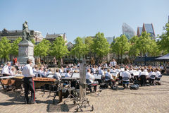 Orchestra in the center of The Hague. Stock Photography