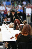 Orchestra of classical music stock photos