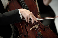 Orchestra of classical music with violin Royalty Free Stock Photography