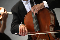 Orchestra of classical music with violin Royalty Free Stock Photos