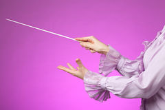 Orchestra conductor Royalty Free Stock Photos