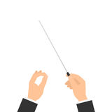 Orchestra conductor hand Stock Image