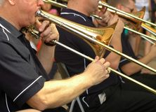 Orchestra della tromba della via Fotografie Stock